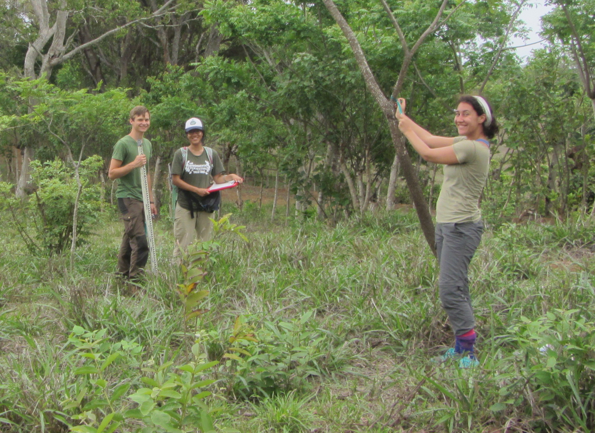 Jonas Lechner, Veronica Chang, and Asha Bertsch in Panama 2016