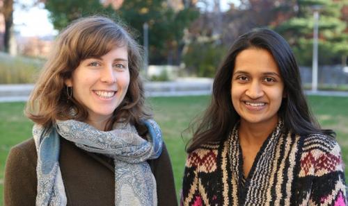 Samantha Garvin and Pooja Choksi (Photo: Brittany Whiteman)